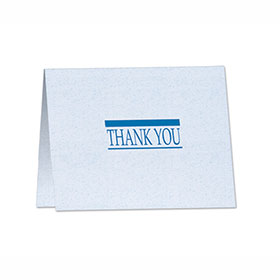 Thank You Note with Detachable Survey Card - Design 1