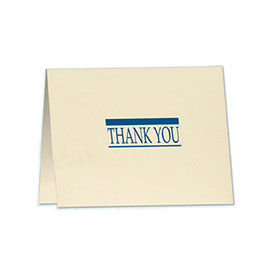 Thank You Note with Detachable Survey Card - Design 2