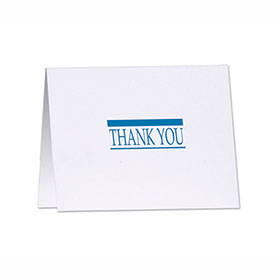 Thank You Note with Detachable Survey Card
