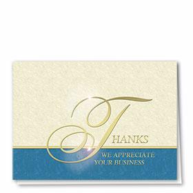 Foil Automotive Thank You Cards - Elegant Design