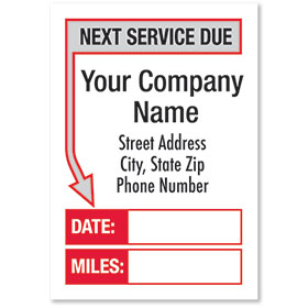White Jumbo Adhesive Service Sticker