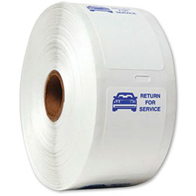 "Generic ""Return for Service"" Static Cling on a Roll"