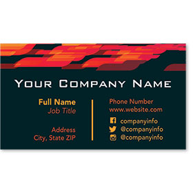 Designer Automotive Business Cards - Abstract Flame
