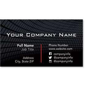 Designer Automotive Business Cards - Futuristic Grid