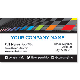 Designer Automotive Business Cards - Color Check