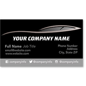 Designer Automotive Business Cards - Sleek Profile