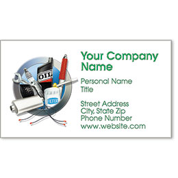 Designer Automotive Business Cards - Circle of Service