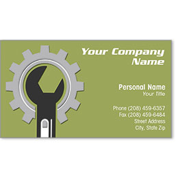 Designer Automotive Business Cards - Gear Wrench