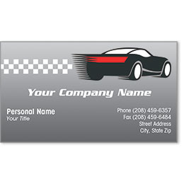 Designer Automotive Business Cards - Speedway Auto