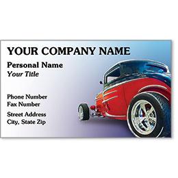 Designer Automotive Business Cards - Rebel Roadster