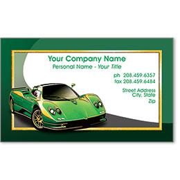 Designer Automotive Business Cards - Green Machine