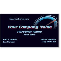 Designer Automotive Business Cards - Red Line