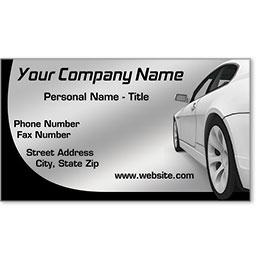 Designer Automotive Business Cards - Pretentious