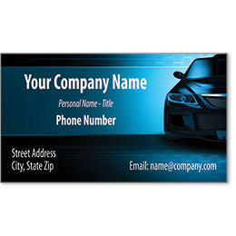 Designer Automotive Business Cards - Blue Marauder