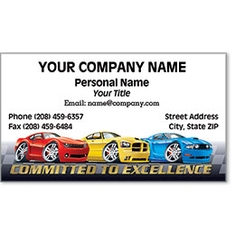 Designer Automotive Business Cards - Modern Miracle