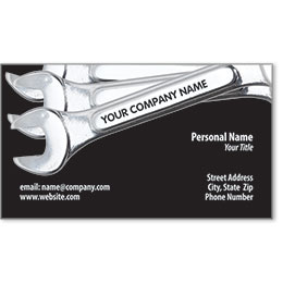 Designer Automotive Business Cards - Wrench Ready