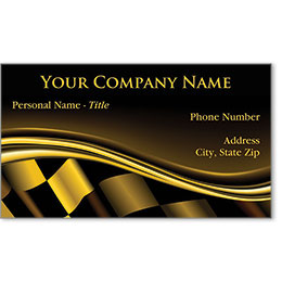 Designer Automotive Business Cards - Golden Luster