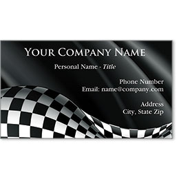 Designer Automotive Business Cards - Winner's Flag