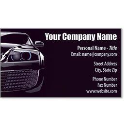 Designer Automotive Business Cards - Covert Car
