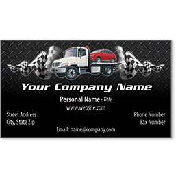 Designer Automotive Business Cards - Tartan Towing