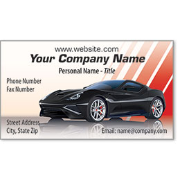 Designer Automotive Business Cards - Perfect Lines