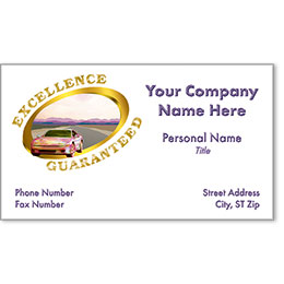 Automotive Business Cards with Foil - Excellence Guaranteed