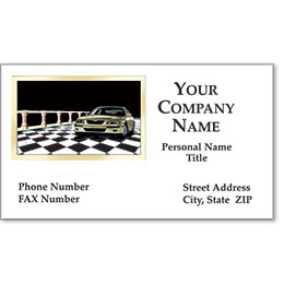 Automotive Business Cards with Foil - Showroom Classic