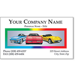 Automotive Business Cards with Foil - Car Club II