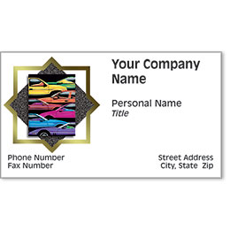 Automotive Business Cards with Foil - Full Spectrum II