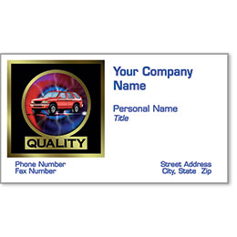 Automotive Business Cards with Foil - Quality & Beyond