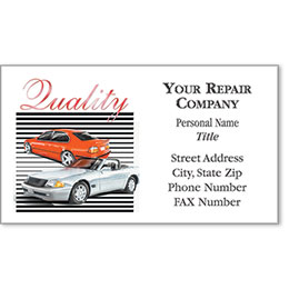 Automotive Business Cards with Foil - Quality X2