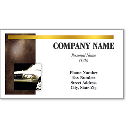 Automotive Business Cards with Foil - Executive Drive Image