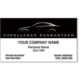 Automotive Business Cards with Foil - Sparkling Silhouette