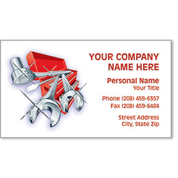 Automotive Business Cards with Foil - Gleaming Tools