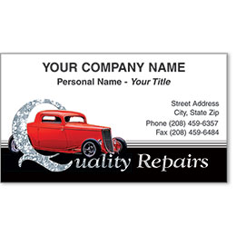 Automotive Business Cards with Foil - Quality Coupe