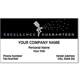 Automotive Business Cards with Foil - Excellence Spray