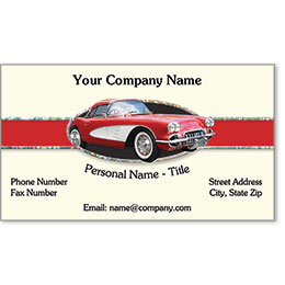 Automotive Business Cards with Foil - Classic Favorite