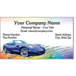 Automotive Business Cards with Foil - Rainbow Race