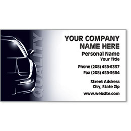 Automotive Business Cards with Foil - Quality Silhouette