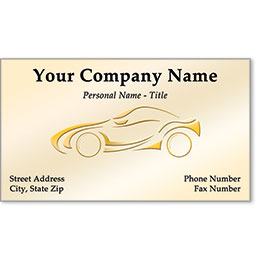 Automotive Business Cards with Foil - Gold