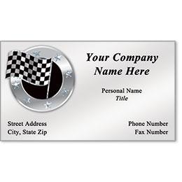 Business Card Foil - Stars & Checks
