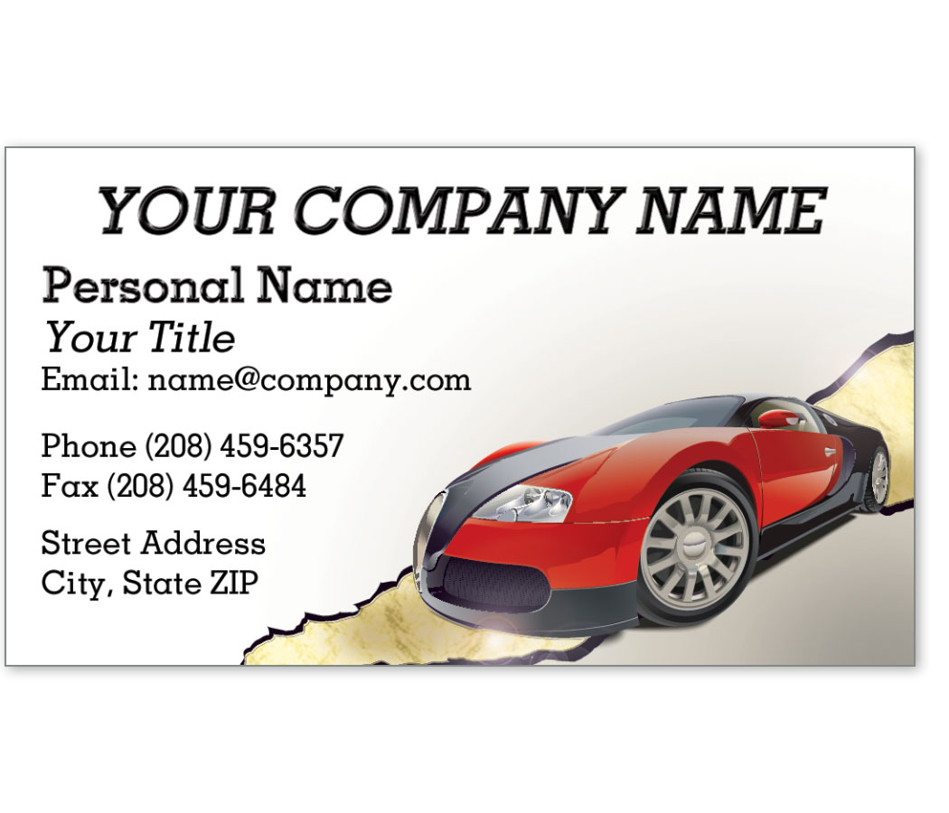 Automotive Business Cards with Foil - Made for Speed