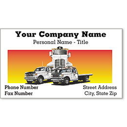Premier Automotive Business Cards - Tow Truck Trio