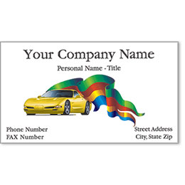 Premier Automotive Business Cards - Banner of Quality