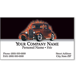 Premier Automotive Business Cards - Fired-Up Hot Rod