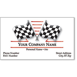 Premier Automotive Business Cards - Cross Check