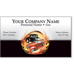 Premier Automotive Business Cards - Flaming Duo