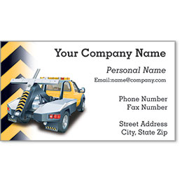 Premier Automotive Business Cards - Cautious Towing