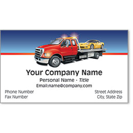 Premier Automotive Business Cards - On the Spot Flatbed