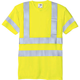C/S T-Shirt SS Safety ANSI 107 Class 3 Snag-Resistant Reflective